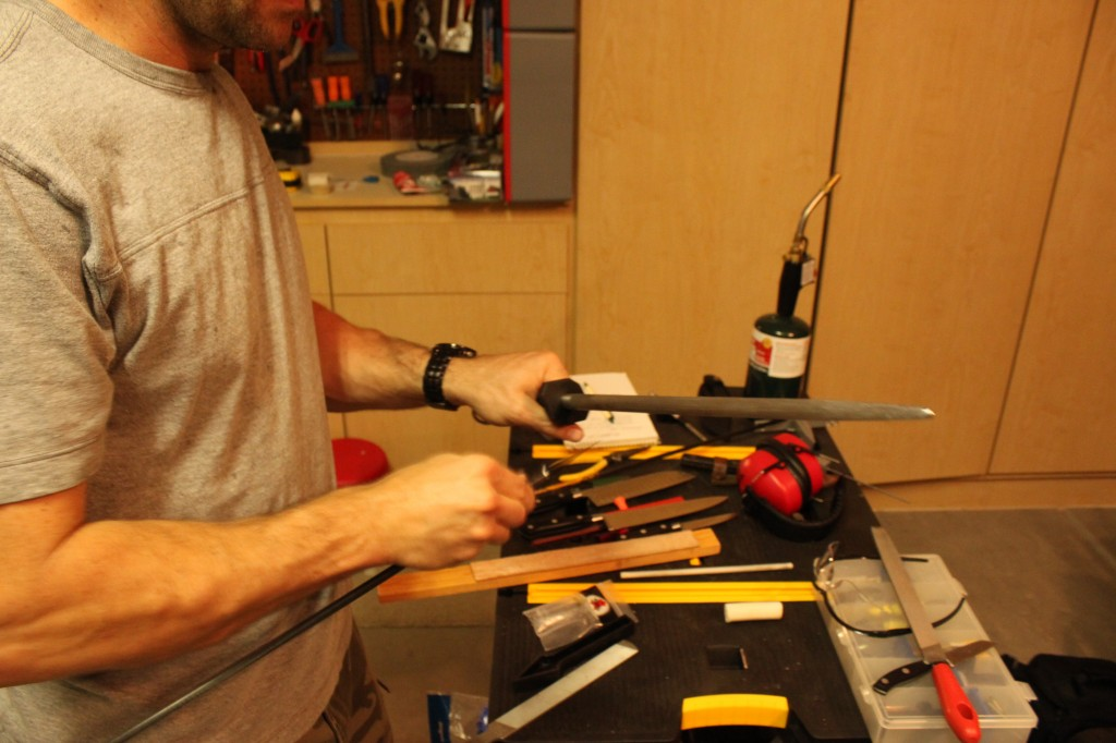Broadhead sharpening