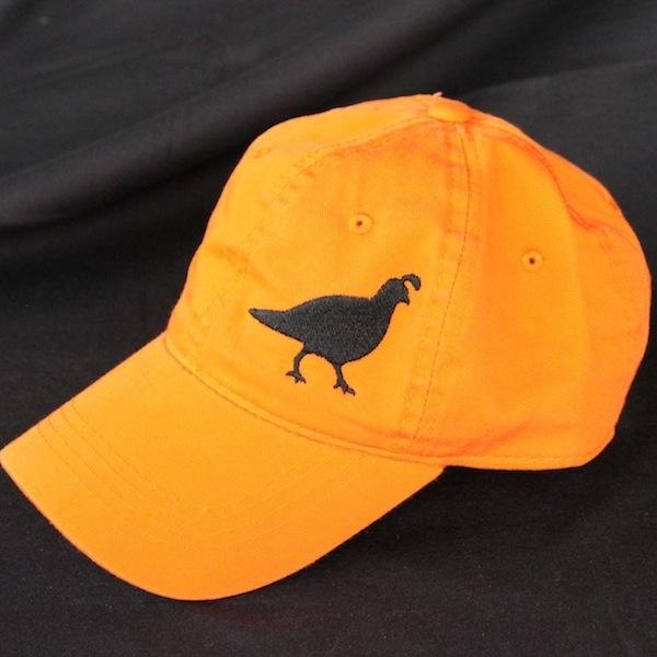 Blaze Orange Gambel's Quail Hat