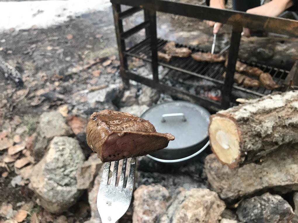 Coues deer steaks