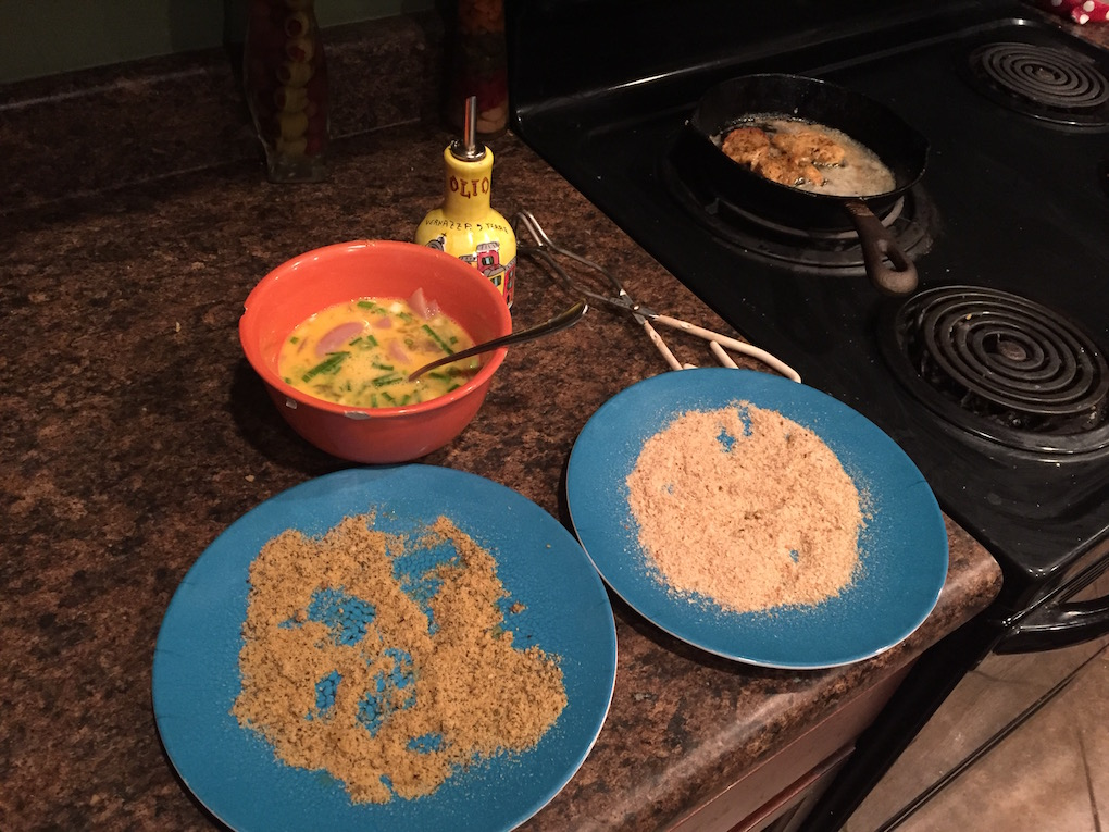 Fixings for fried quail