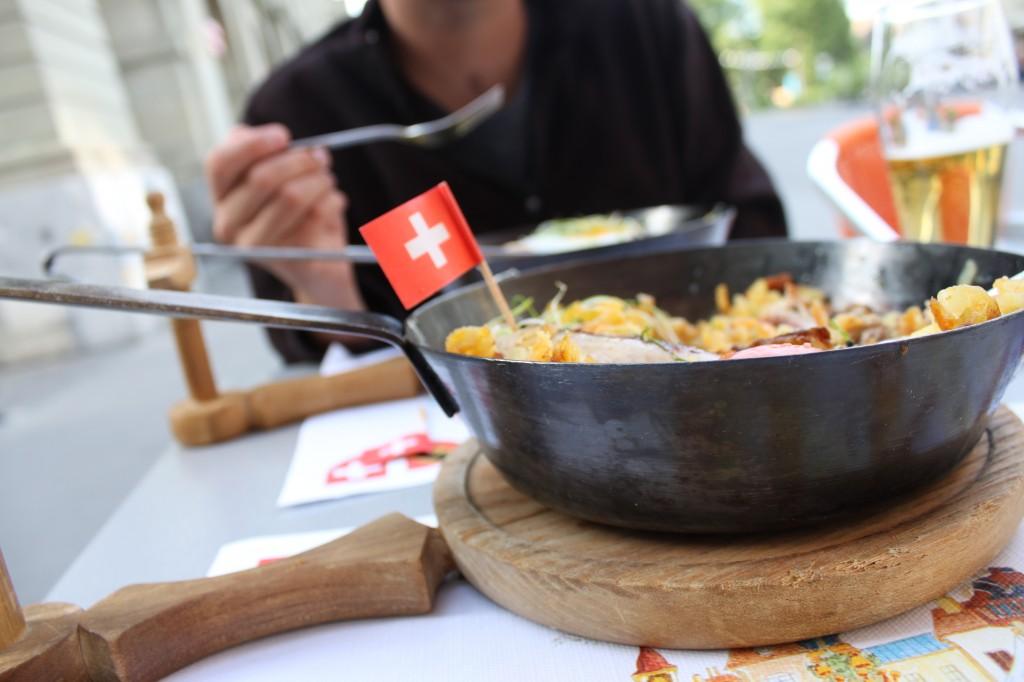 Dinner in Bern Switzerland
