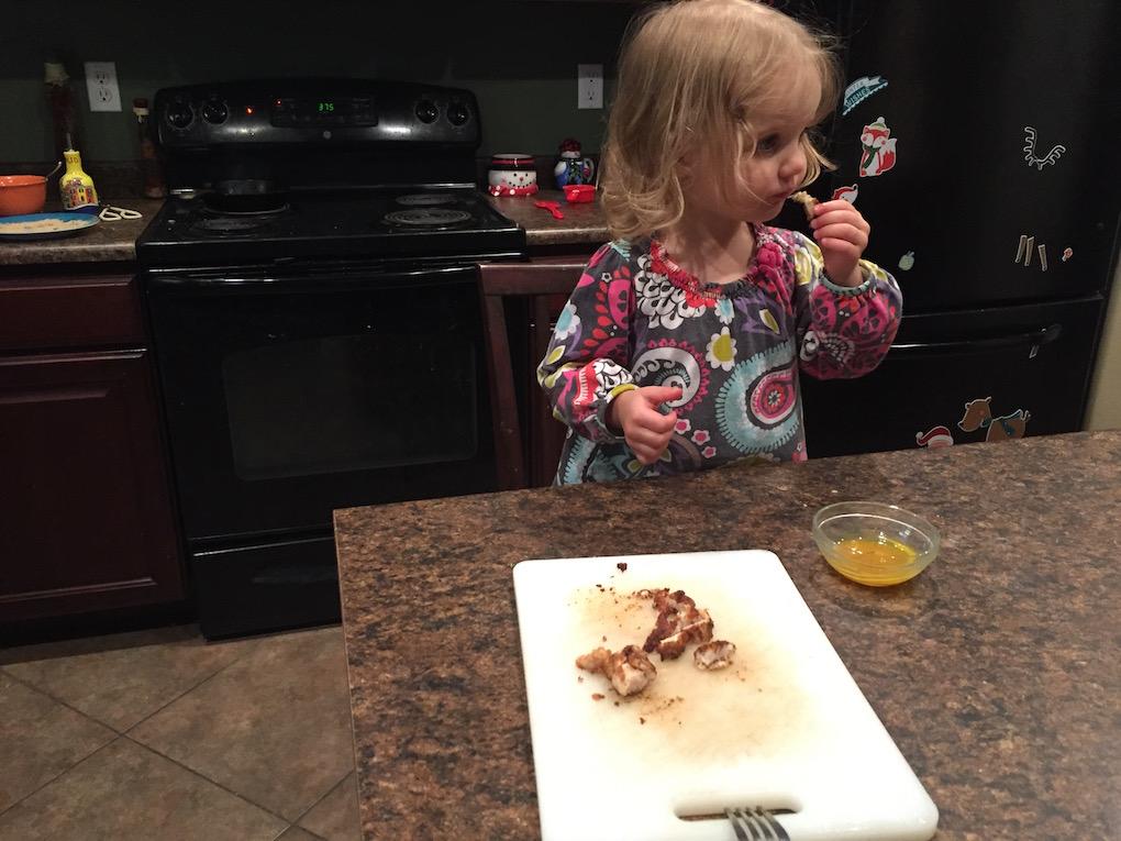 Someone loves quail nuggets