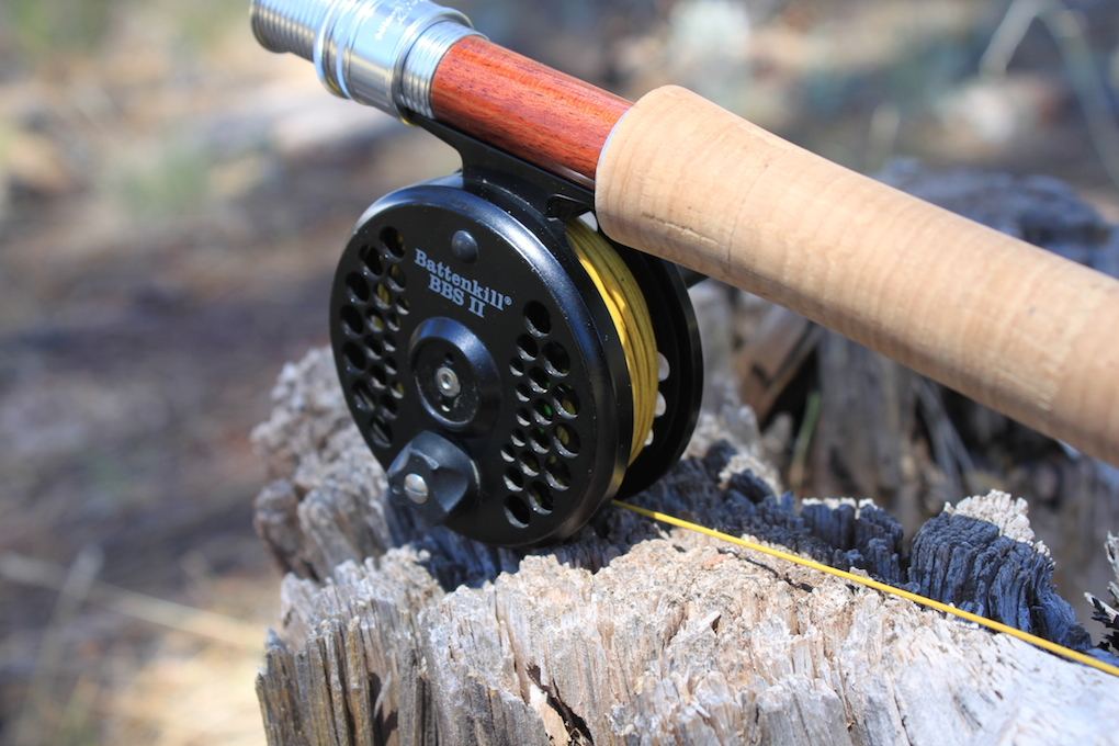 Thomas & Thomas Heirloom Fiberglass Fly Rod paired with a BBS II and Cortland Sylk Line
