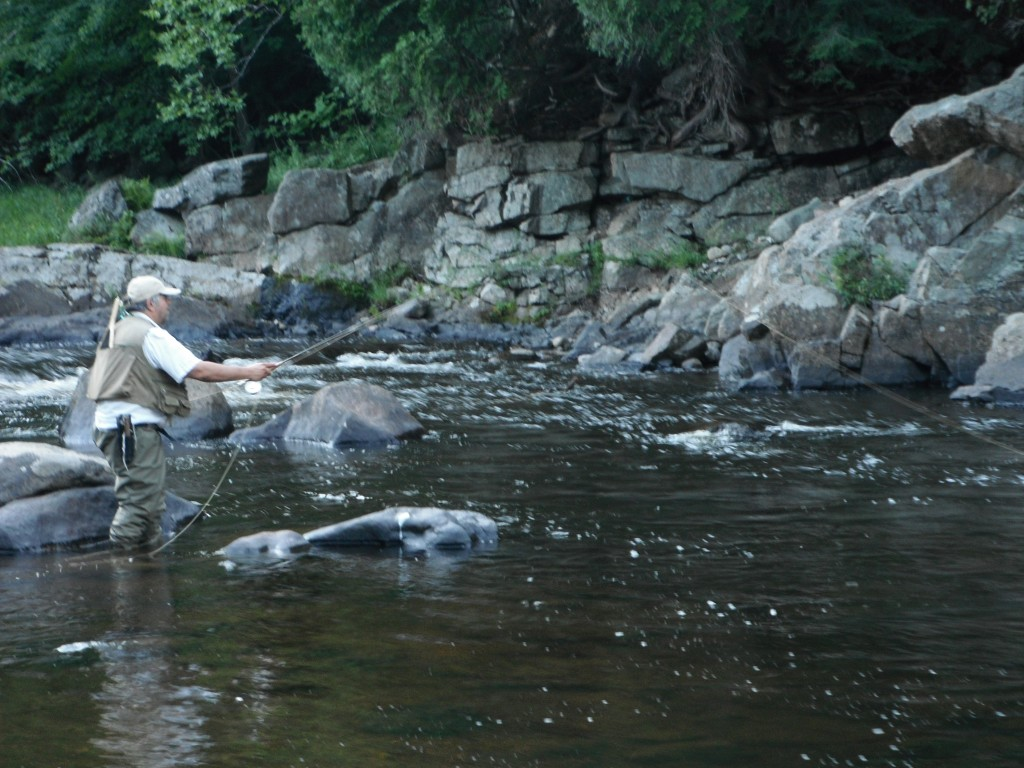 Tony Fly Fishing the Ausable River